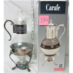 silver plate coffee carafe