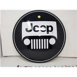 Jeep reproduction button sign, 16""