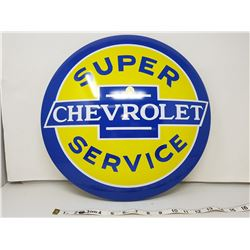 Chevrolet reproduction button sign, 16""