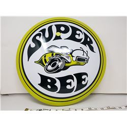 Super Bee reproduction button sign, 16""
