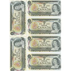 LOT OF 10 1973 ONE DOLLAR NOTES W/ CONSECUTIVE SERIAL #'S