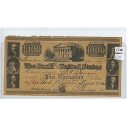 1840 USA BANK NOTE (NOT VERFIED FOR AUTHENTICITY)