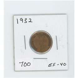 1932 CANADIAN ONE CENT