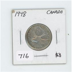 1948 CANADIAN 25 CENT