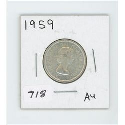 1959 CANADIAN 25 CENT