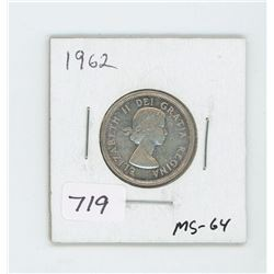 1962 CANADIAN 25 CENT
