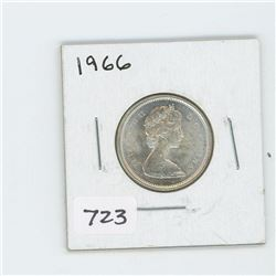 1966 CANADIAN 25 CENT