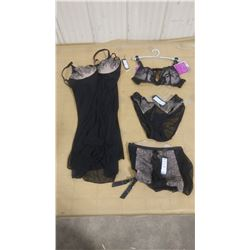 ASSORTED BLACK LINGERIE ITEMS - SIZE SMALL