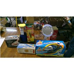 LOT OF ASSORTED ITEMS - HANDY CHOPPER,  POTATO CUTTER, MIRROR, ETC.