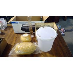 LOT OF ASSORTED ITEMS - TUPPERWARE, TOASTER, ETC.