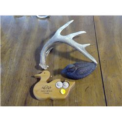 AVON DUCK DECOY, DUCKS UNLIMITED DUCK AND DEER SHED