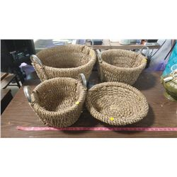 LOT OF BASKETS, ASSORTED SIZES
