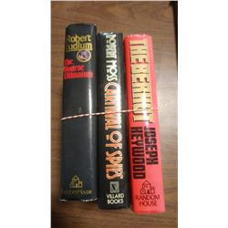 LOT OF THREE BOOKS - THE BOURNE ULTIMATUM, CARNIVAL OF SPIES, ETC.