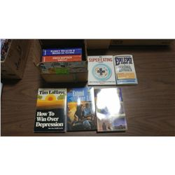 LOT OF ASSORTED HEALTH AND ALTERNATIVE HEALTH BOOKS
