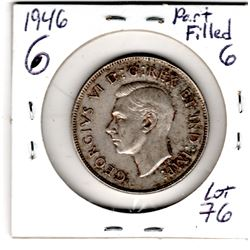 1946 PART FILLED 6 FIFTY CENT PIECE