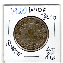 1920 WIDE 0 50 CENTS