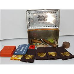 Riley's toffee tin and contents