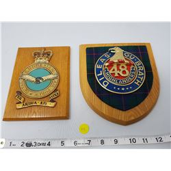 2 military plaques