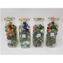 milk bottles with marbles (4)