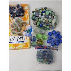 lot of bagged marbles