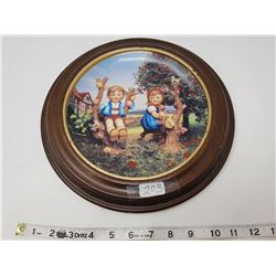 Hummel collectors plate- framed
