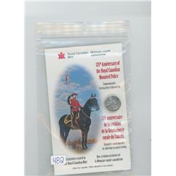 Sterling silver 125th Anniversary of RCMP pin.