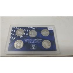 Proof set of  5 U.S. State quarters from the San Francisco Mint: 1999S Delaware, Pennsylvania, New J
