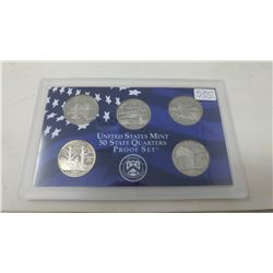 Proof set of 5 U.S. State quarters from the San Francisco Mint: 2001S New York, North Carolina, Rhod