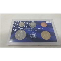 2001S Proof set of 5 U.S. coins from 1 cent to Sacagawea dollar from the San Francisco Mint.