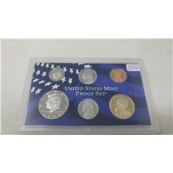 2004S Proof set of 6 U.S. coins from 1 cent to Sacagawea dollar from the San Francisco Mint.