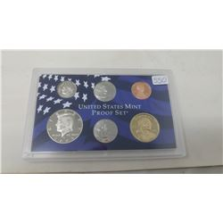 2005S Proof set of 6 U.S. coins from 1 cent to Sacagawea dollar from the San Francisco Mint.