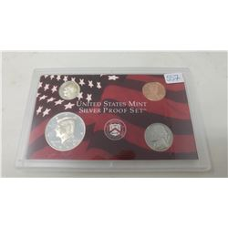 1999S Silver Proof set of 4 U.S. San Francisco Mint coins from 1 cent to half dollar.