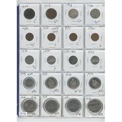 1859 CANADIAN LARGE ONE CENT & ASSORTED COINS (20)