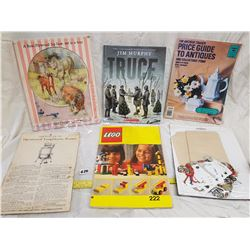 LOT OF ASSORTED BOOKS, PUZZLE AND LEGO BOOK