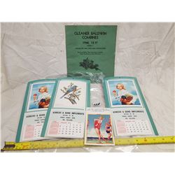 THREE CALENDARS AND COMBINE MANUAL