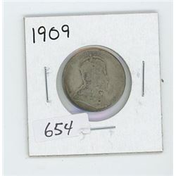 1909 CANADIAN 25 CENT