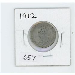 1912 CANADIAN 25 CENT