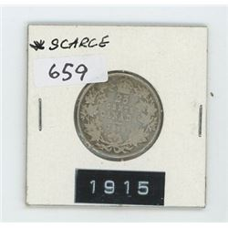1915 CANADIAN 25 CENT