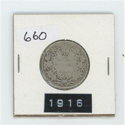 1916 CANADIAN 25 CENT