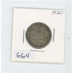 1920 CANADIAN 25 CENT