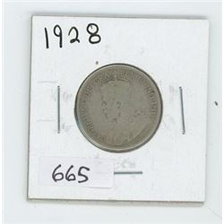1928 CANADIAN 25 CENT