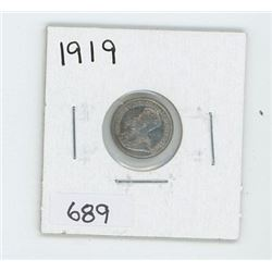 1919 CANADIAN 5 CENT