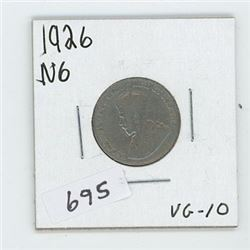 1926N6 CANADIAN 5 CENT