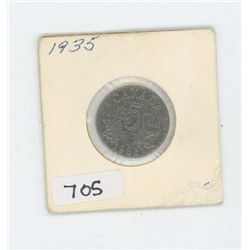 1935 CANADIAN 5 CENT