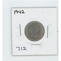 1942 CANADIAN 5 CENT