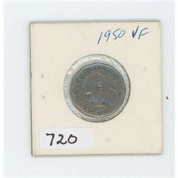1950 CANADIAN 5 CENT