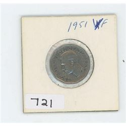 1951 CANADIAN 5 CENT