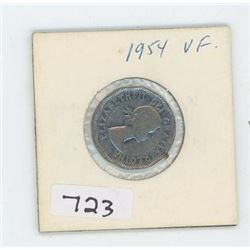 1954 CANADIAN 5 CENT