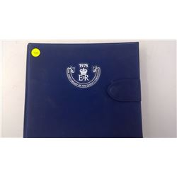 1978 25TH ANNIVERSARY OF THE QUEENS CORONATION BLUE BINDER