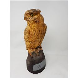 """OWL CARVING - 15"""" TALL"""
